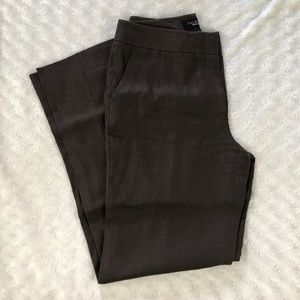 Talbots Pure Irish Linen Brown Pants Size 4 Dressy